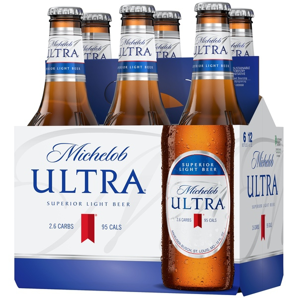 Catalog Beverages Beers Michelob Ultra Light Beer 6 Pack 12 Fl Oz Bottles